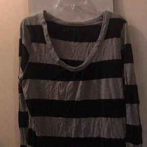 Old navy black and gray striped sweater